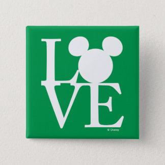 Mickey Mouse LOVE | St. Patrick's Day Pinback Button