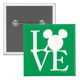 Mickey Mouse LOVE   St. Patrick's Day Pinback Button