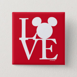 Mickey Mouse LOVE | Valentine's Day 3 Pinback Button