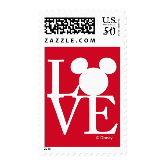 mickey mouse love valentines day 3 postage