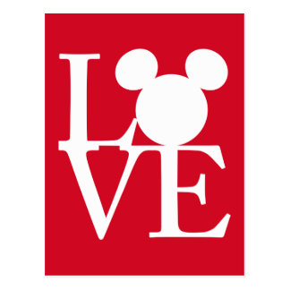 Mickey Mouse LOVE | Valentine's Day 3 Postcard