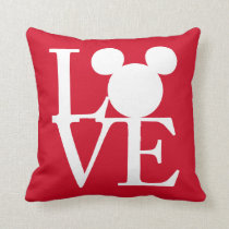 Mickey Mouse LOVE | Valentine's Day 3 Throw Pillow