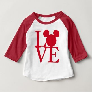 Mickey Mouse LOVE | Valentine's Day Baby T-Shirt
