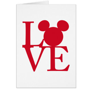 mickey mouse love valentines day card