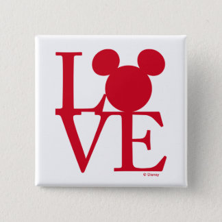 Mickey Mouse LOVE | Valentine's Day Pinback Button