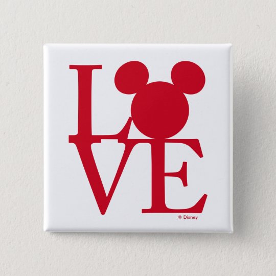 mickey mouse love valentines day pinback button - Mickey Mouse Valentines