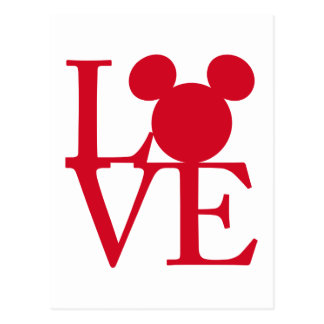 Mickey Mouse LOVE | Valentine's Day Postcard