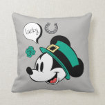 Mickey Mouse | Lucky You Throw Pillow