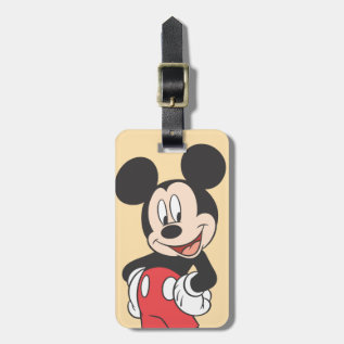 Mickey Mouse Luggage Tag at Zazzle