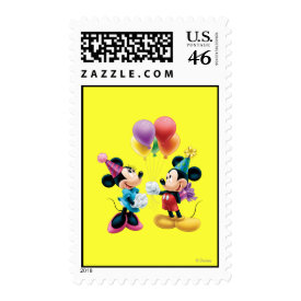 Mickey Mouse & Minnie Birthday Postage Stamp