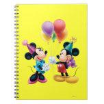 Mickey Mouse & Minnie Birthday Spiral Notebooks