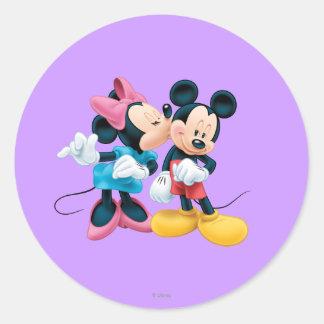 Mickey Mouse & Minnie Classic Round Sticker