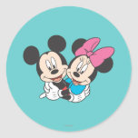 Mickey Mouse & Minnie  Hugging Stickers