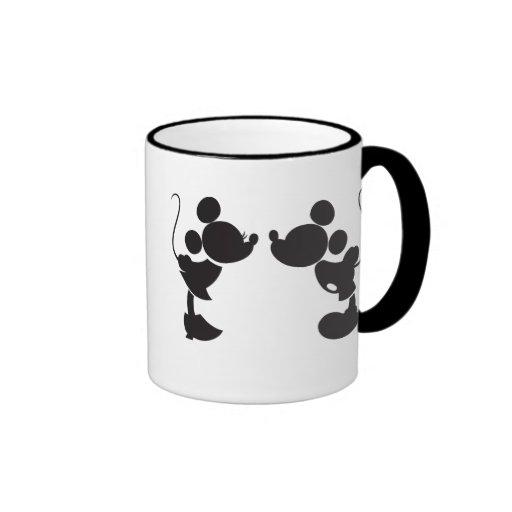 Mickey Mouse & Minnie Silhouette Coffee Mug | Zazzle