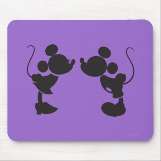 Mickey Mouse & Minnie  Silhouette Mouse Pad