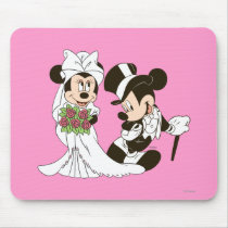 Mickey Mouse & Minnie Wedding Mouse Pad