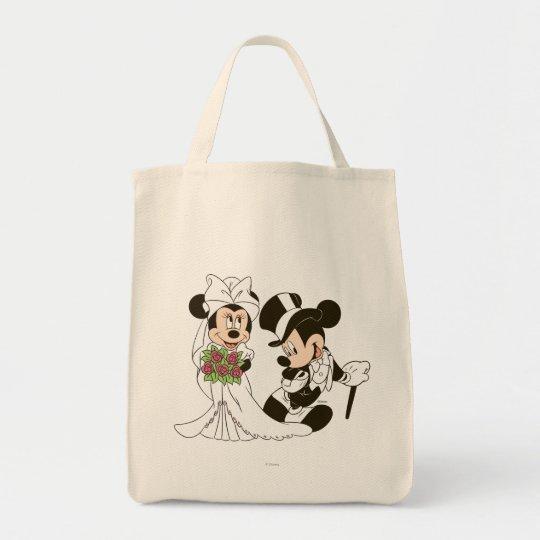 mickey mouse minnie wedding tote bag zazzle com