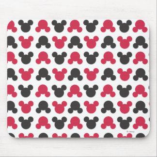 Mickey Mouse modelo negro y rojo del | Alfombrillas De Ratón