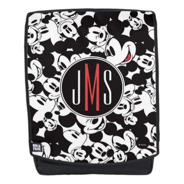 Disney Themed Mickey Mouse | Monogram Crowd Pattern Backpack
