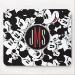 "Mickey Mouse | Monogram Crowd Pattern Mouse Pad<br><div class=""desc"">Mickey Mouse</div>"
