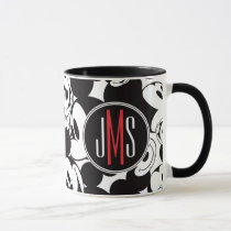 Mickey Mouse | Monogram Crowd Pattern Mug