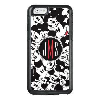 Mickey Mouse | Monogram Crowd Pattern OtterBox iPhone 6/6s Case