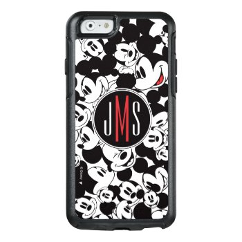 Mickey Mouse | Monogram Crowd Pattern Otterbox Iphone 6/6s Case by MickeyAndFriends at Zazzle