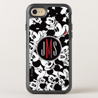 Mickey Mouse | Monogram Crowd Pattern OtterBox Symmetry iPhone 8/7 Case