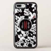 Mickey Mouse | Monogram Crowd Pattern OtterBox Symmetry iPhone 8 Plus/7 Plus Case