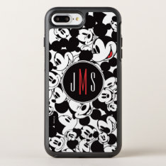 Mickey Mouse | Monogram Crowd Pattern Otterbox Symmetry Iphone 8 Plus/7 Plus Case at Zazzle
