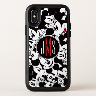 Mickey Mouse | Monogram Crowd Pattern OtterBox Symmetry iPhone X Case
