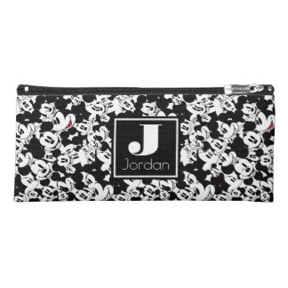 Mickey Mouse   Monogram Crowd Pattern Pencil Case