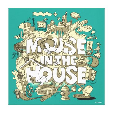 Disney Themed Mickey Mouse | Mouse In The House Canvas Print