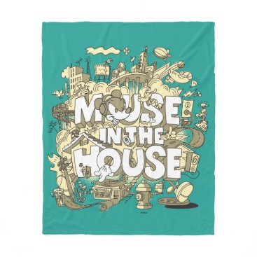 Disney Themed Mickey Mouse | Mouse In The House Fleece Blanket
