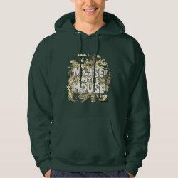 Men's Basic Hooded Sweatshirt with Pluto design