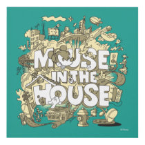 Mickey Mouse | Mouse In The House Panel Wall Art