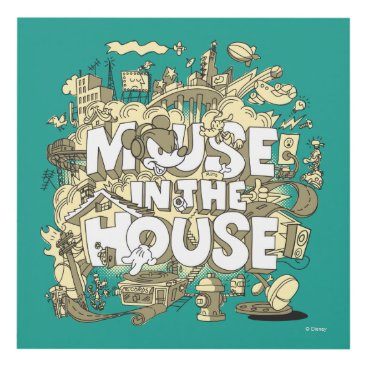 Disney Themed Mickey Mouse | Mouse In The House Panel Wall Art
