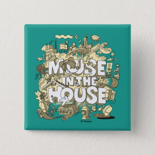 Mickey Mouse   Mouse In The House Pinback Button