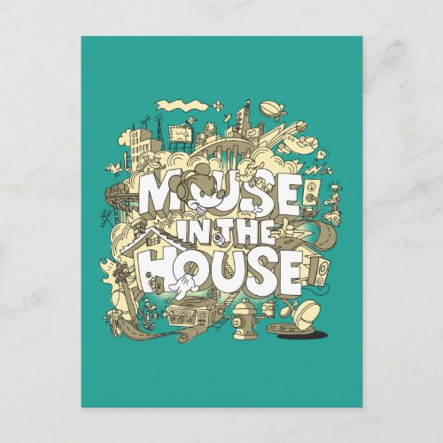 Mickey Mouse   Mouse In The House Postcard
