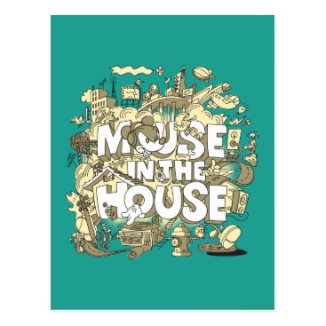 Disney Themed Mickey Mouse | Mouse In The House Postcard