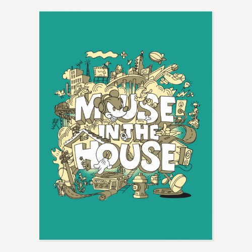 Mickey Mouse | Mouse In The House Postcard
