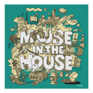 Mickey Mouse | Mouse In The House Poster
