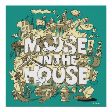 Disney Themed Mickey Mouse | Mouse In The House Poster