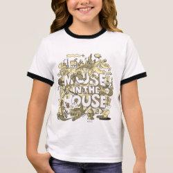 Girl's Ringer T-Shirt with Pluto design