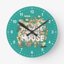Mickey Mouse | Mouse In The House Round Clock