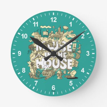 Disney Themed Mickey Mouse | Mouse In The House Round Clock