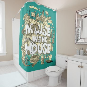 Disney Themed Mickey Mouse | Mouse In The House Shower Curtain