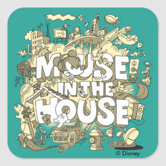 Mickey Mouse | Mouse In The House Square Sticker