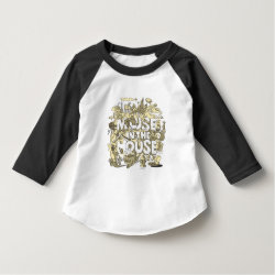 Toddler American Apparel 3/4 Sleeve Raglan T-Shirt with Pluto design