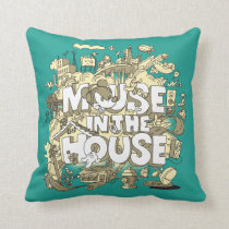 Mickey Mouse | Mouse In The House Throw Pillow